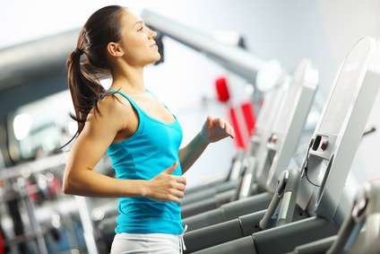 Frau macht Ausdauersport