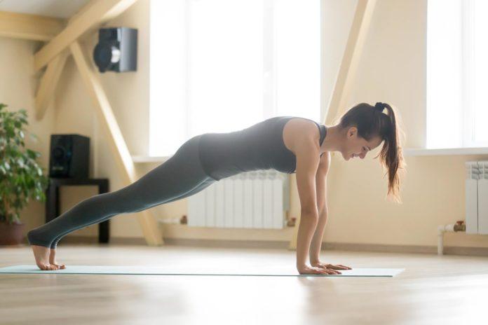 7 Eigengewichtsübungen - hier Liegestütze